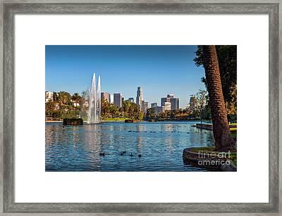 Echo Park Downtown Los Angeles 2 Framed Print by David Zanzinger