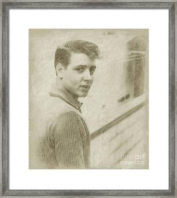 Eddie Cochran Vintage Singer Framed Print by Frank Falcon