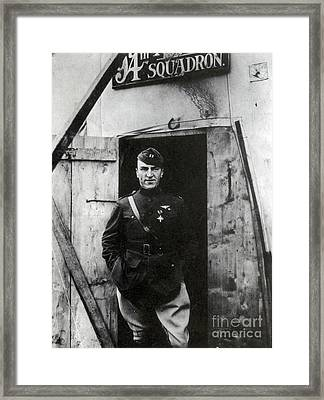 Eddie Rickenbacker, Wwi American Flying Framed Print