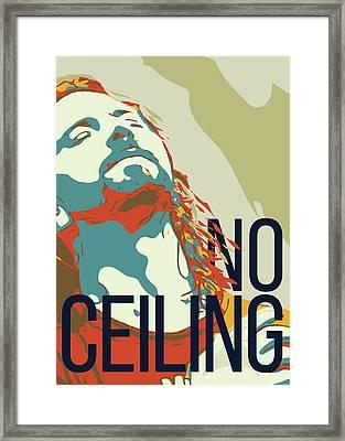 Eddie Vedder Framed Print by Greatom London