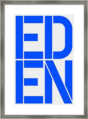 Eden Framed Print by Three Dots