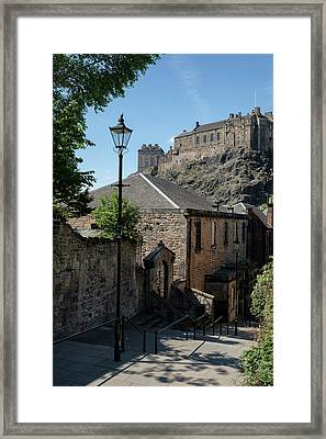 Framed Print featuring the photograph Edinburgh Castle In Scotland by Jeremy Lavender Photography