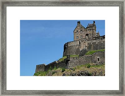 Framed Print featuring the photograph Edinburgh Castle by Jeremy Lavender Photography