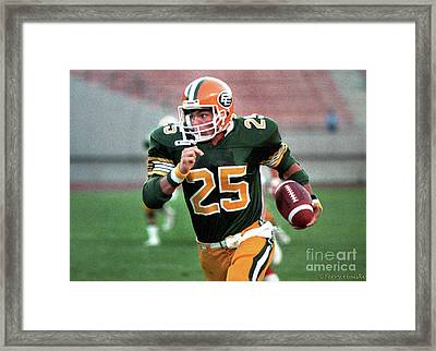Edmonton Eskimos Football - Tom Richards - 1988 Framed Print