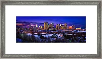 Edmonton Winter Skyline Framed Print