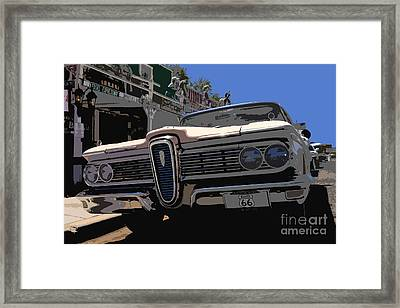 Edsel On Route 66 Framed Print by David Lee Thompson