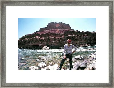 Edward Abbey By The Colorado River Framed Print
