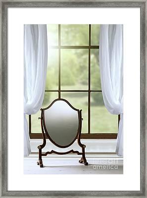 Edwardian Mirror Framed Print by Amanda Elwell