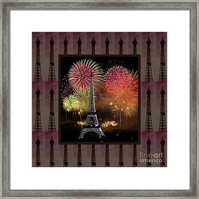 Effel Tower Paris France Landmark Photography Towels Pillows Curtains Tote Bags Framed Print