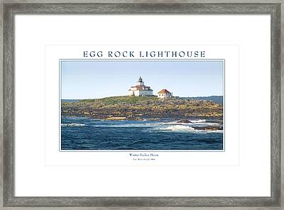 Egg Rock Island Lighthouse Framed Print by Peter Muzyka