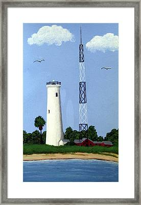 Egmont Key Lighthouse Framed Print by Frederic Kohli