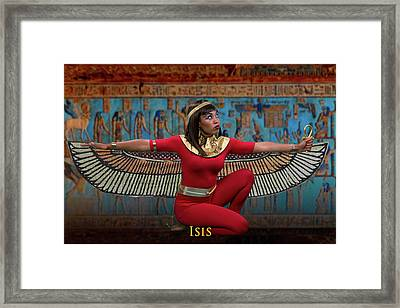 Egyptian Goddess Isis Framed Print by David Clanton