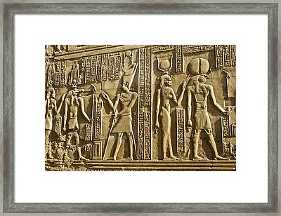 Egyptian Temple Art Framed Print by Michele Burgess