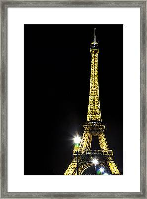 Eiffel At Night Framed Print by Andrew Soundarajan