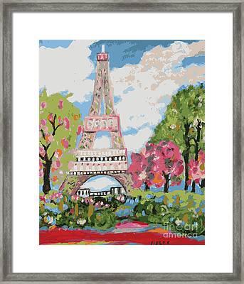 Eiffel Tower Dream Framed Print by Karen Fields