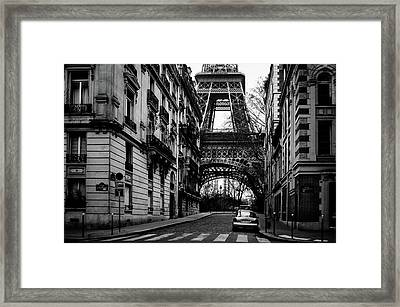 Only In Paris Framed Print