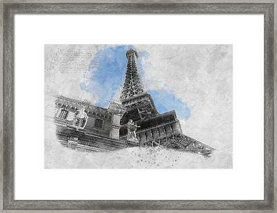 Eiffel Tower Of Paris Framed Print