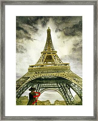 Eiffel Tower Paris Framed Print by Irina Sztukowski