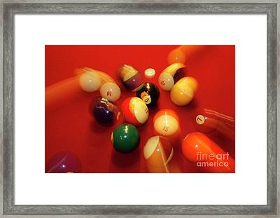 Eight Ball Framed Print by Skip Willits