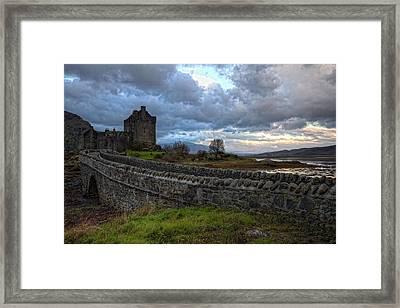 Eilean Donan Castle In The Morning Light Framed Print by Jim Dohms