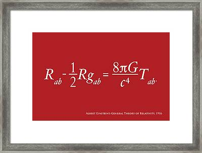 Einstein Theory Of Relativity Framed Print by Michael Tompsett