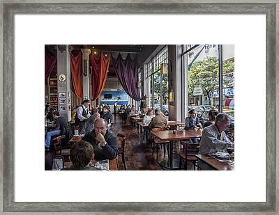 El Cairo Cafe Rosario City Framed Print by Hans Wolfgang Muller Leg