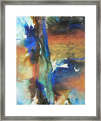 Electric And Warm Framed Print