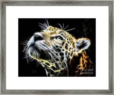 Electric Leopard Wall Art Collection Framed Print by Marvin Blaine