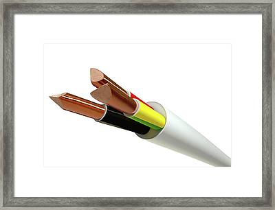 Electrical Cable Framed Print by Allan Swart