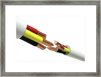 Electrical Cable Cut Framed Print