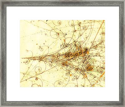 Electron Positron Particle Shower Framed Print by Spl