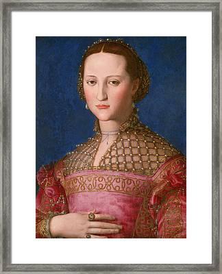 Eleonora Of Toledo Framed Print by Agnolo Bronzino