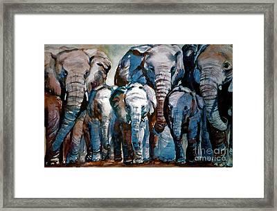 Elephant Family Framed Print by Joyce A Guariglia