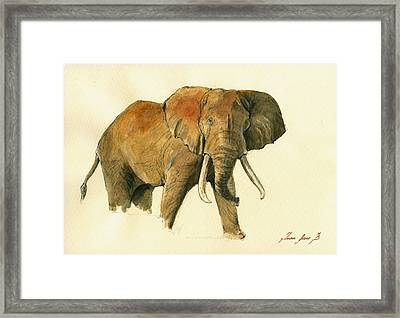 Elephant Painting        Framed Print by Juan  Bosco