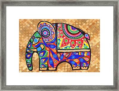 Elephant Framed Print by Samadhi Rajakarunanayake