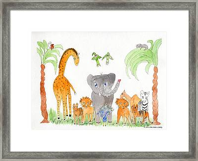 Elephoot And Friends 2 Framed Print