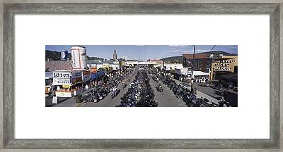 Elevated Panoramic View Of Main Street Framed Print by Panoramic Images