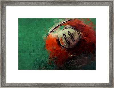 Eleven Ball Billiards Abstract Framed Print by David G Paul