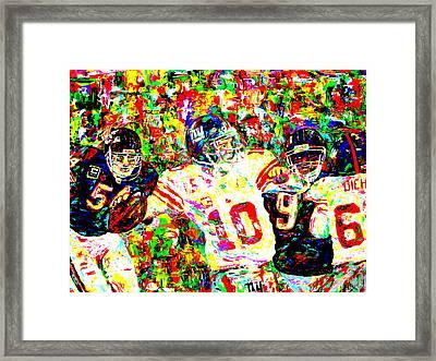 Eli Manning Framed Print by Mike OBrien