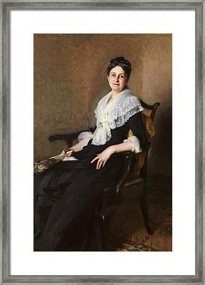Elizabeth Allen Marquand Framed Print by John Singer Sargent