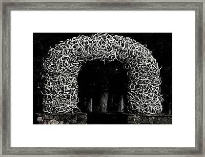 Elk Antlers Gate Jackson Hole Wy Framed Print by Christine Till
