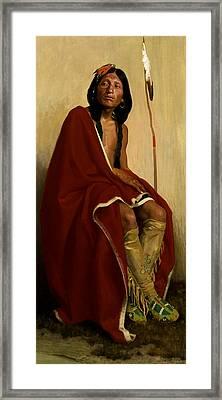 Elk-foot Of The Taos Tribe Framed Print by Eanger Irving Couse