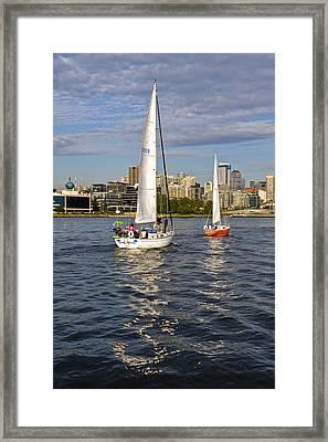 Elliott Bay Seattle Framed Print by Tom Dowd