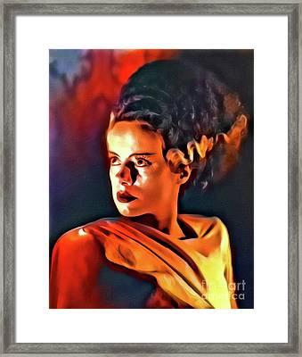 Elsa Lanchester As The Bride Of Frankenstein Framed Print