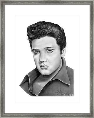 Elvis Aaron Presley Framed Print by Murphy Elliott