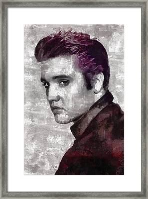 Elvis Presley Framed Print by Mary Bassett