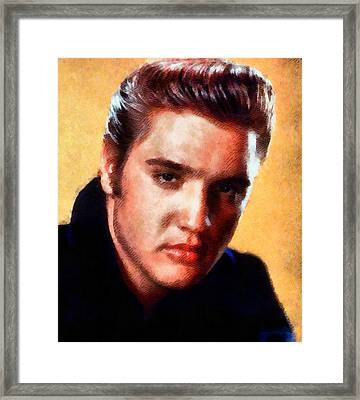 Elvis Presley, Singer Framed Print by John Springfield