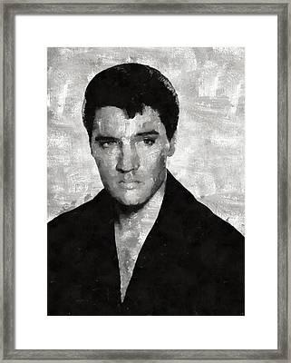 Elvis Presley, Singer Framed Print by Mary Bassett