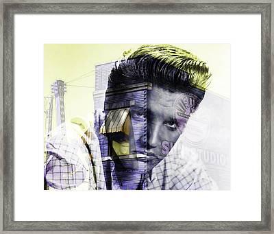 Elvis Presley Sun Studio Collection Framed Print by Marvin Blaine