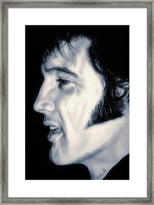 Elvis Presley  The King Framed Print by Fred Larucci